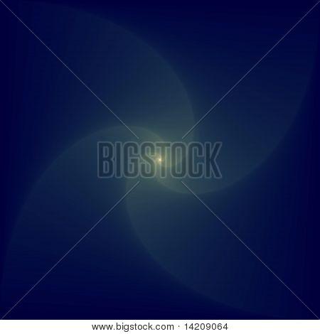 Blue Logarithmic Spiral