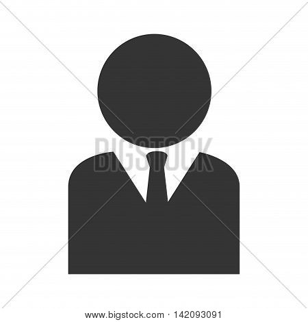 head peson suit tie business human silhouette job vector graphic isolated and flat illustration
