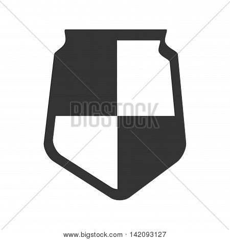 shield defence insignia protection banner honor simplicity vector graphic isolated and flat illustration