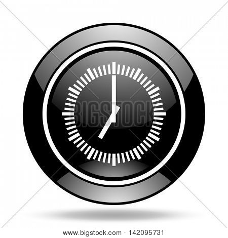 time black glossy icon