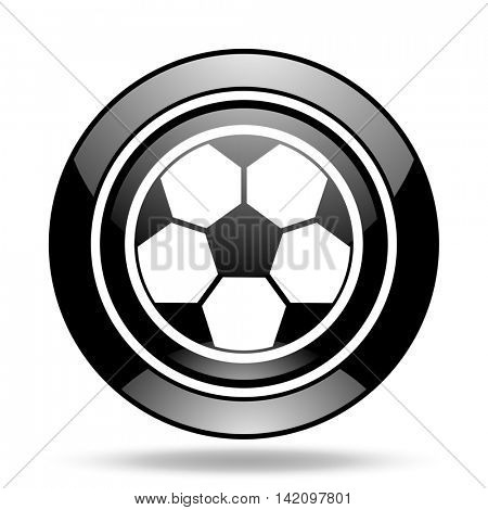 soccer black glossy icon