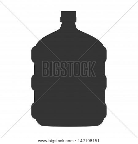 water big bottle gallon drink liquid beverage cap plastic vector graphic isolated and flat illustration