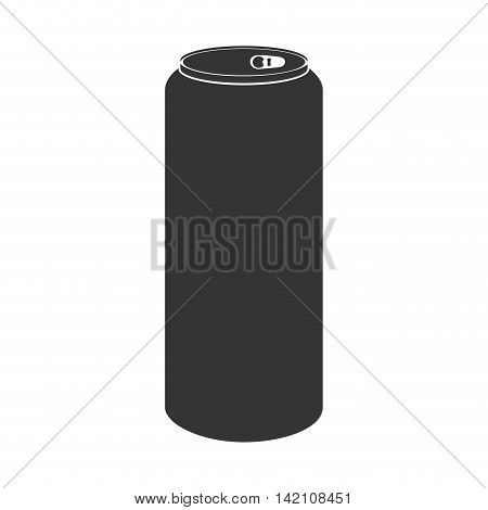 can soda drink beverage liquid aluminium object silhouette  vector graphic isolated and flat illustration