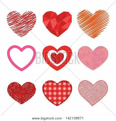 Simple Red Hearts Sharp Vector Vector En Foto Bigstock