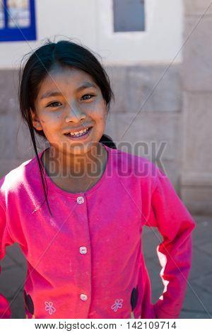 Young Quechua Girl