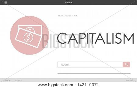 Capitalism Cash Credit Revenue Banking Stock Concept