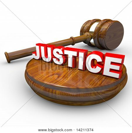 Justice - Judge Gavel And Word