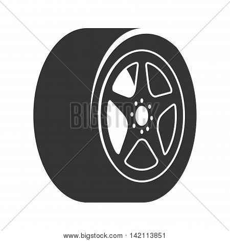 rim car wheel tire metalic modern mechanical disk vector graphic isolated illustration