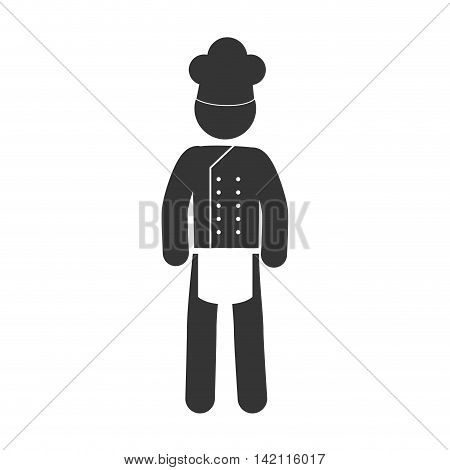chef cooker apron hat uniform proffesional man male vector graphic isolated illustration