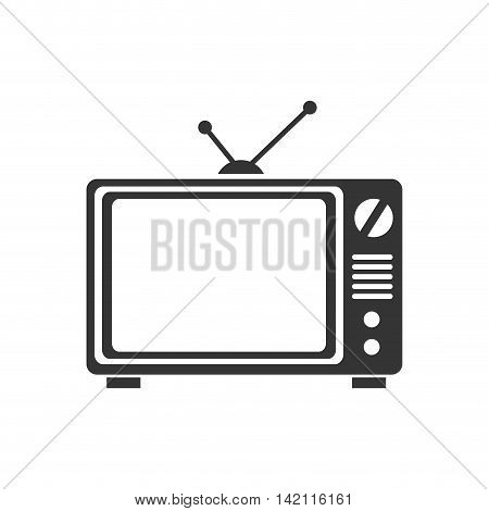 tv old television retro vintage antenna buttons screen vector graphic isolated illustration