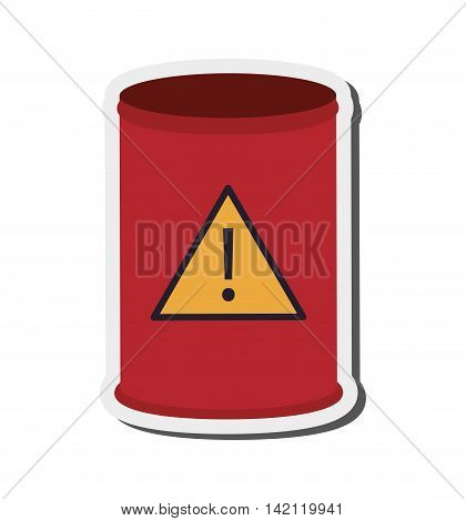 flat design toxic waste barrel icon vector illustration poster