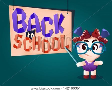 Back To School Letters And Kid Teacher