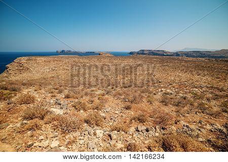 Crete, Greece: aerial view of Gramvousa island