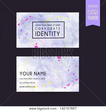 Adorable Purple Business Card Template Design