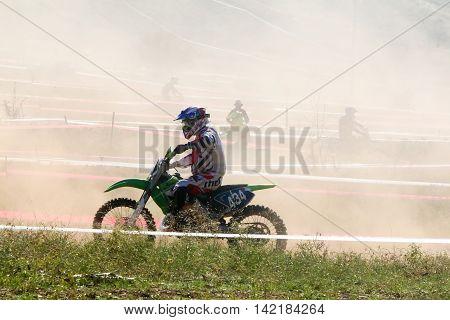 4Th Race Motocross Scrabble Southern Greece