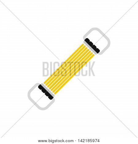 Sports stretchable belt icon in flat style on a white background