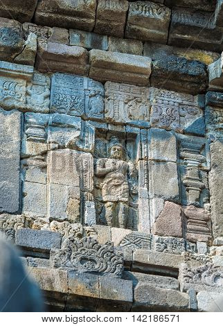 Stone Carving Of Prambanan Hindu Temple, Yogyakarta,  Java