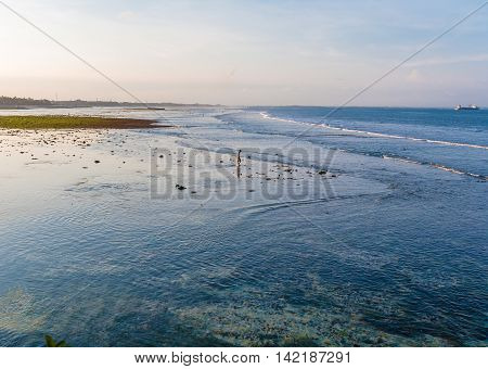 Low Tide And Tropical Beach, Bali
