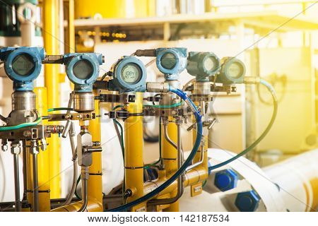 Pressure transmitter and temperature transmitter for measurement and monitor data of oil and gas process
