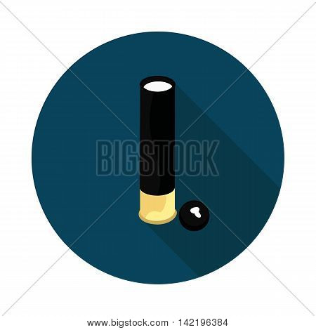cartridge with a bullet in vector format eps10