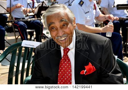 New York City - May 28 2012: United States House of Representatives Congressman Charles Rangel at the annual Memorial Day ceremonies at the Soldiers' and Sailors' Monument in Riverside Park