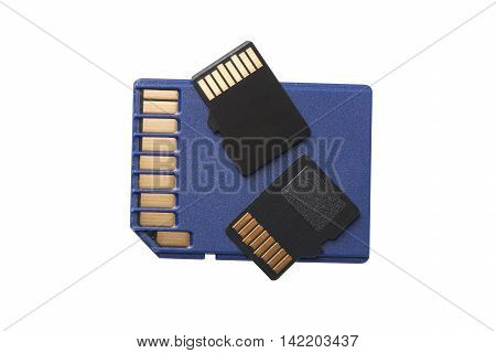 Two Micro Sd Cards On Regular Size Sd Card