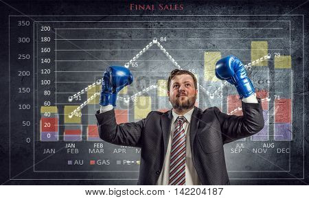 Fighting for sales figures . Mixed media