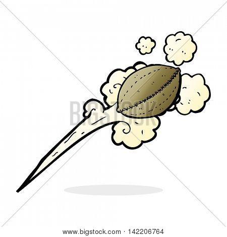 cartoon thrown football