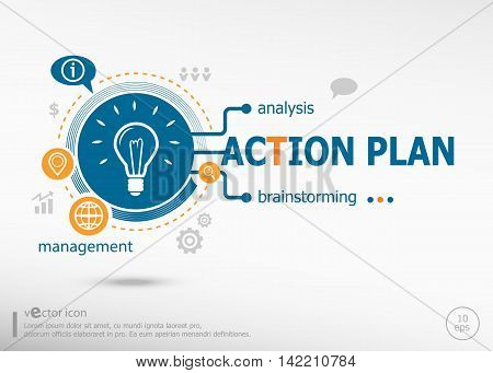 Action Plan Concept For Creative Process.