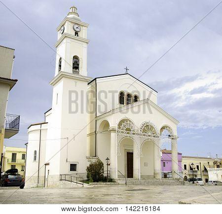Lesina Gargano Puglia Italy white church annunziata