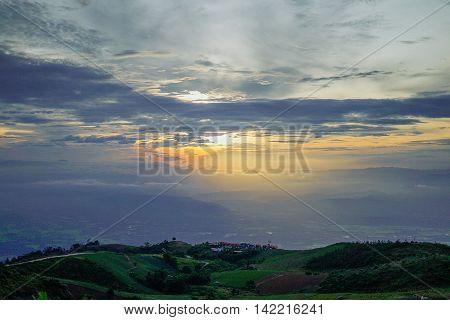 Mountain,breezy,light some Feeling fresh,Thu Tub berk,Thailand,grass,Meadow thailand