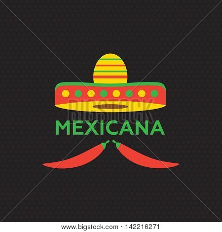 Hot Mexicano Chili Pepper Logo template. Mexican Fast food logotype template eps10