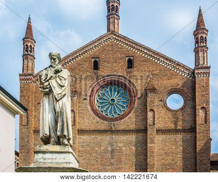 San Francesco Church Of Piacenza. Emilia-romagna. Italy.