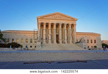 United States Supreme Court Building In Washington