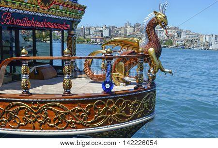 Istanbul Turkey - June 21 2012: Balik ekmek meaning