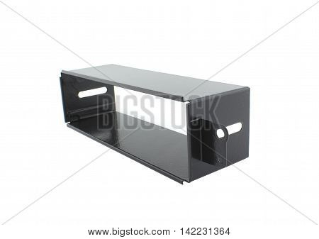 1DIN car radio CD player frame, black