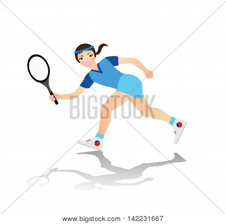 illustration of tennis player on white background