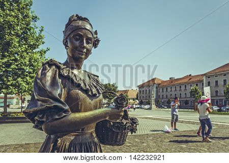 Florist Woman Bronze Statue