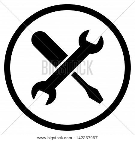 Tuning vector icon. Style is flat rounded iconic symbol, tuning icon is drawn with black color on a white background.