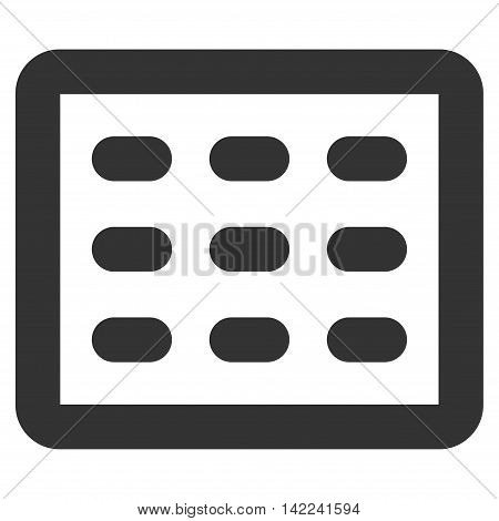 Table Grid vector icon. Style is linear flat icon symbol, gray color, white background.