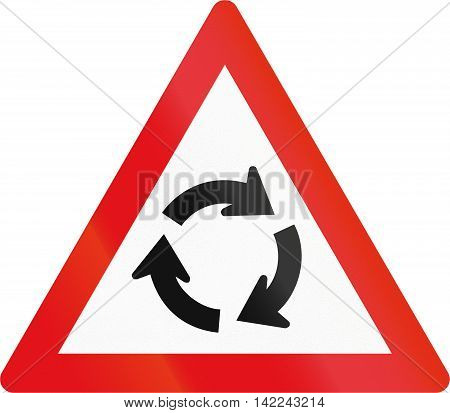 Road Sign Used In The African Country Of Botswana - Roundabout Ahead