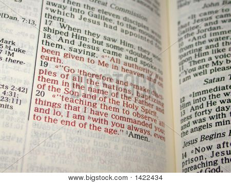 Words Of Christ In Red