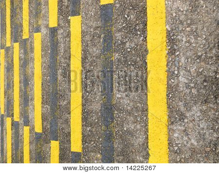 yellow and black warning lines