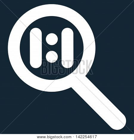 Zoom Actual Scale vector icon. Style is outline flat icon symbol, white color, dark blue background.