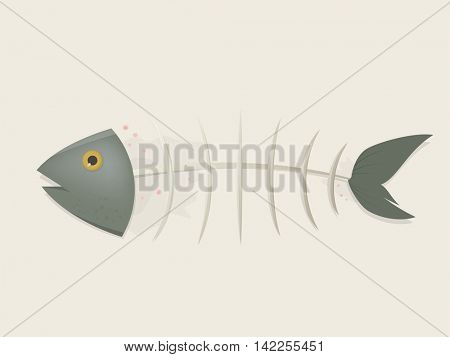 fishbone comic clipart