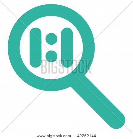 Zoom Actual Scale vector icon. Style is linear flat icon symbol, cyan color, white background.