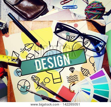 Design Creative Draft Ideas Model Planning Plan Concept