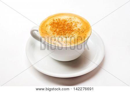 cappucino on the white