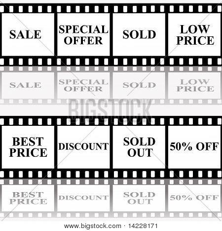 Sale Announcement On Filmstrip