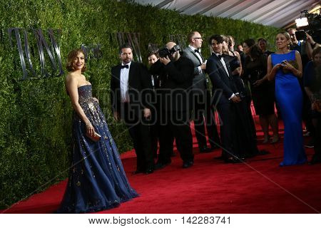 NEW YORK-JUN 7: Actress Jennifer Lopez (L) attends American Theatre Wing's 69th Annual Tony Awards at Radio City Music Hall on June 7, 2015 in New York City.